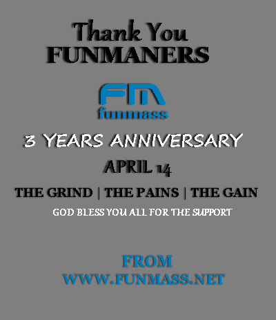 Thank You funmaners: its the Funmass 3 years Anniversary