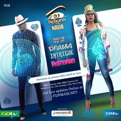 [#BBN Twice The real Life]Catch Up all Live Happenings at BBNaija 2018 online at Funmass