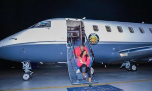 E-news: How Davido Lied!! The New Private Jet Belongs To His Dad.